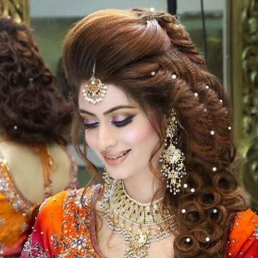 Pics Of Kashees Brides Google Search Bridal Makeup Hairstyle For Wedding Day Hair Styles