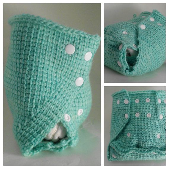 choose COLOR crochet wool diaper cover soaker  one by GotEmCovered, $35.00