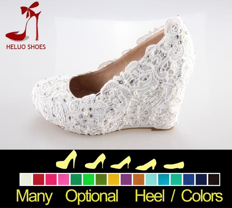 541c8d58c5 Ivory Wedding Shoes wedges | ... wedge heel ivory laceand crystal ...