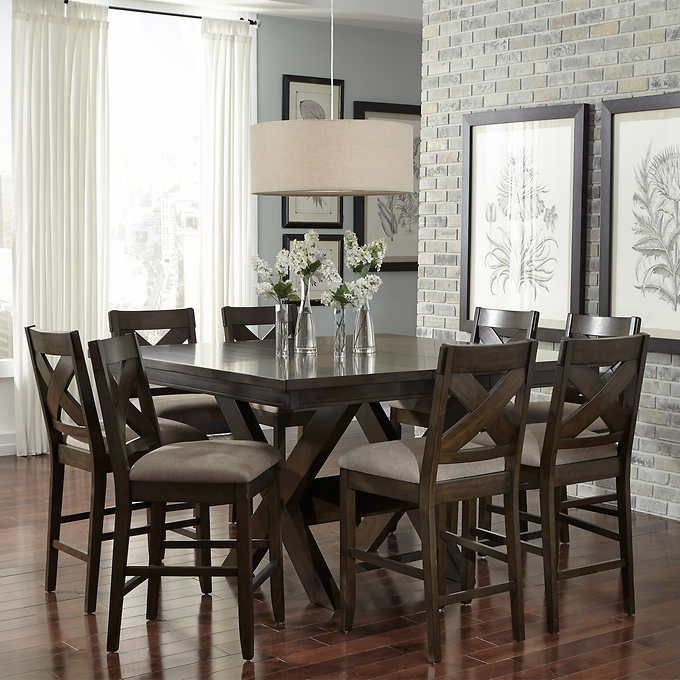 Felicia 9-piece Counter-height Dining Set   Dining Tables ...