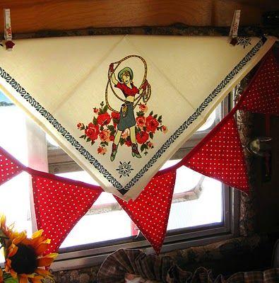 Cowgirl Travel Trailer curtains -- so cute!