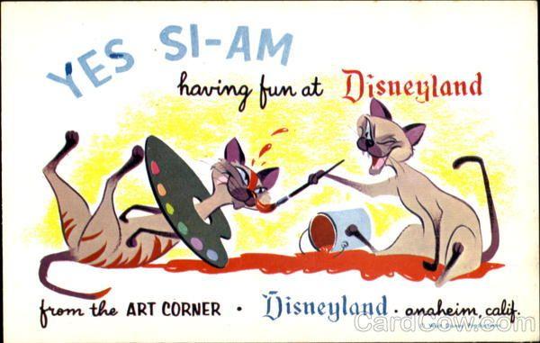 Siamese Cats Disneyland Disney Cats Vintage Disneyland