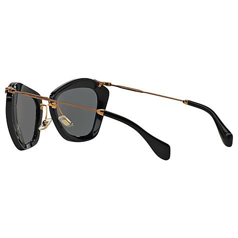 2ae9551eb539 Miu Miu MU10NS Cat's Eye Sunglasses, Black in 2019   INEED   Cat eye ...