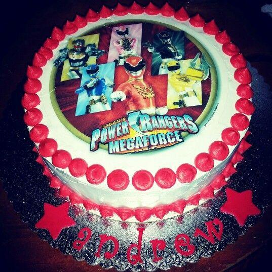 Astonishing Power Rangers Megaforce Cake With Images Power Rangers Funny Birthday Cards Online Inifodamsfinfo