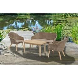 Photo of Harms Lounge-Sessel-Set Garden Pleasure Pueblo braun Harms