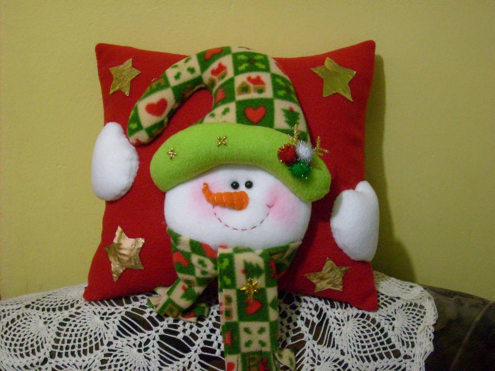 Manualidades luna clara almohadones navide os navidad - Cojines hechos a mano ...