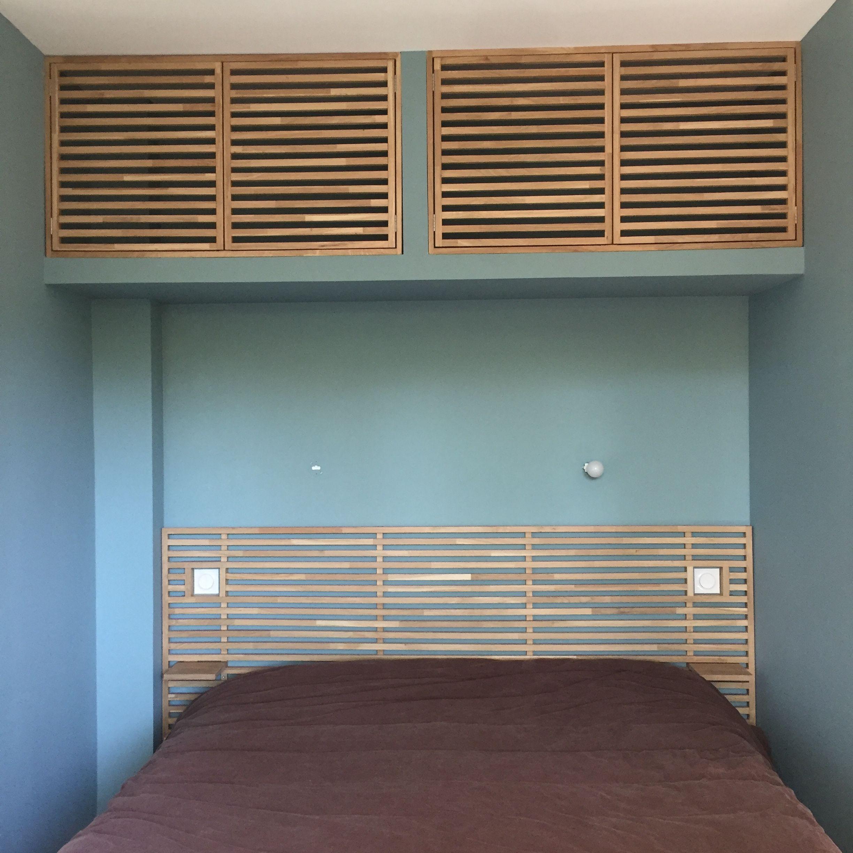 Porte En Tete De Lit tête de lit et porte de placard en chêne massif à claire