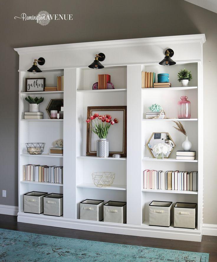 diy shelves billy bookcase hack ikea hack custom on wall hacks id=34072