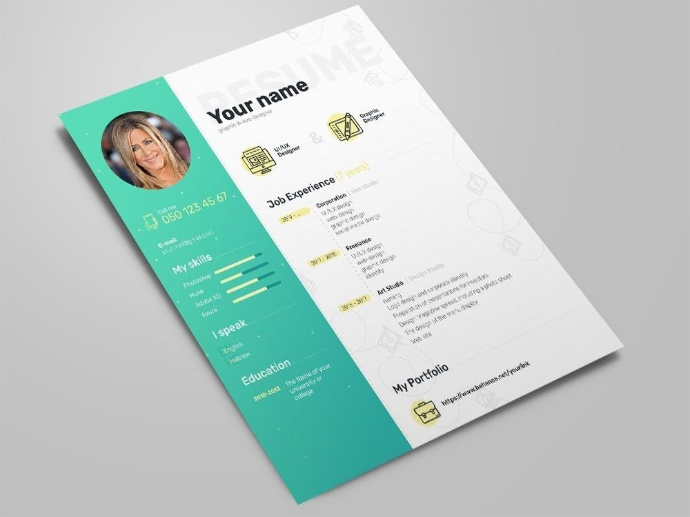 Free Elegant Photoshop Resume Template With Clean Design In 2021 Creative Resume Template Free Resume Template Best Free Resume Templates