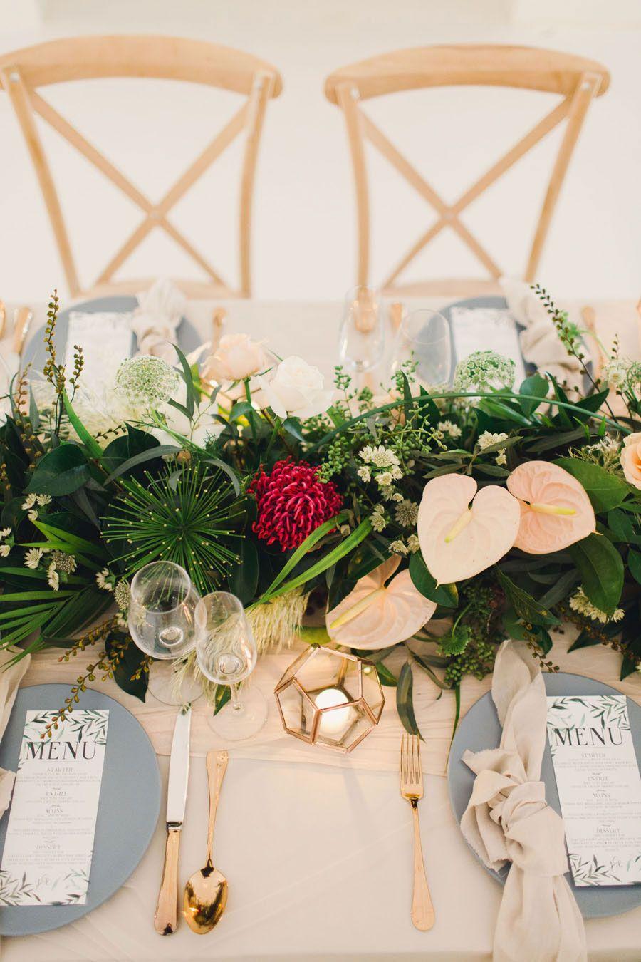 Pampas Grass & Botanical! Rose Gold & Copper Boho Bridal