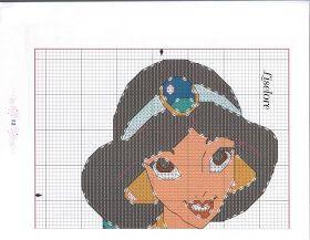 Punto de Cruz GRATIS: Jazmin Princesas Disney