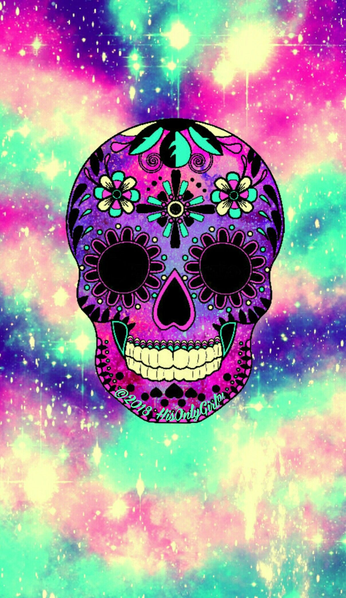 Skull candy iPhone & Android galaxy wallpaper I created