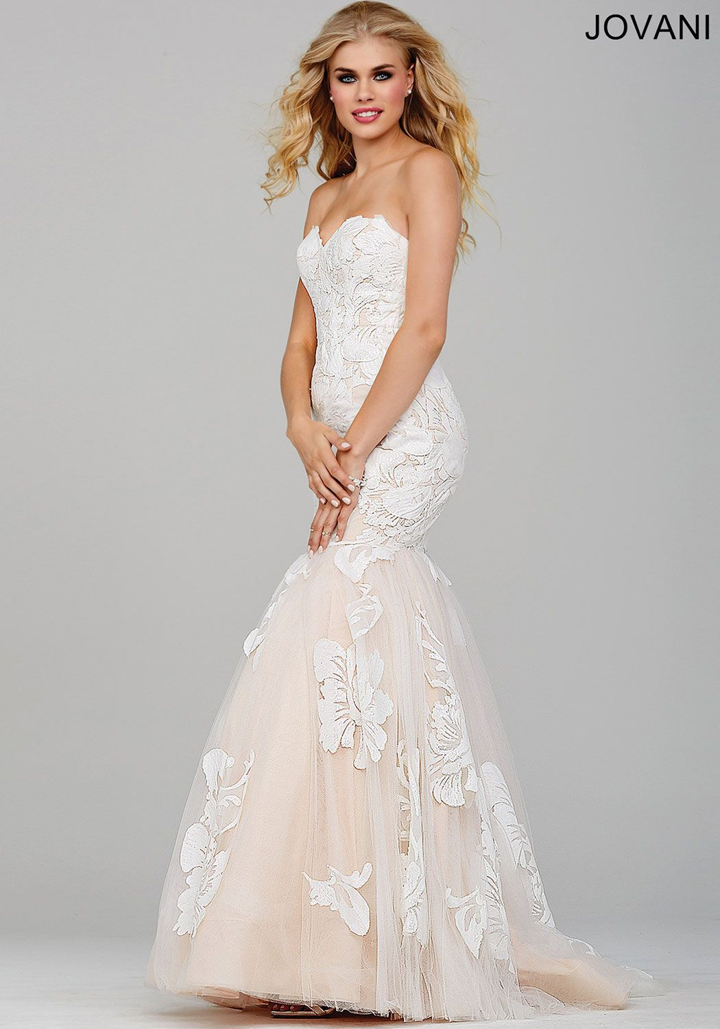 Ivory Prom Dress by Jovani- This strapless mermaid gown is perfect ...
