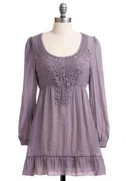 Pebble Clef Tunic in Dusty Violet, #ModCloth
