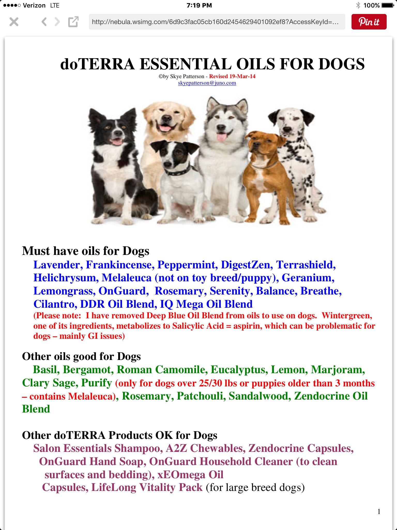 Pin By Shirley Taber On Doterra Essential Oils Dogs