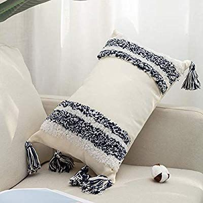 Amazon.com: Bigcozy Decorative Throw Lumbar Pillow Cover, Boho Tribal Long Pillo...