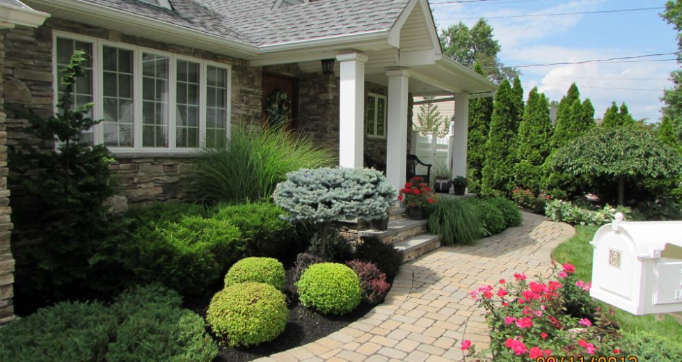 Innovative Front Entryway Landscaping Ideas Yard House Long Island Ny