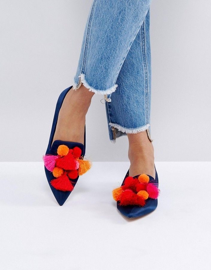 164a3982c2 ASOS LINKIE Pom Pom Ballet Flats #affiliatelink | shoes to boot in ...