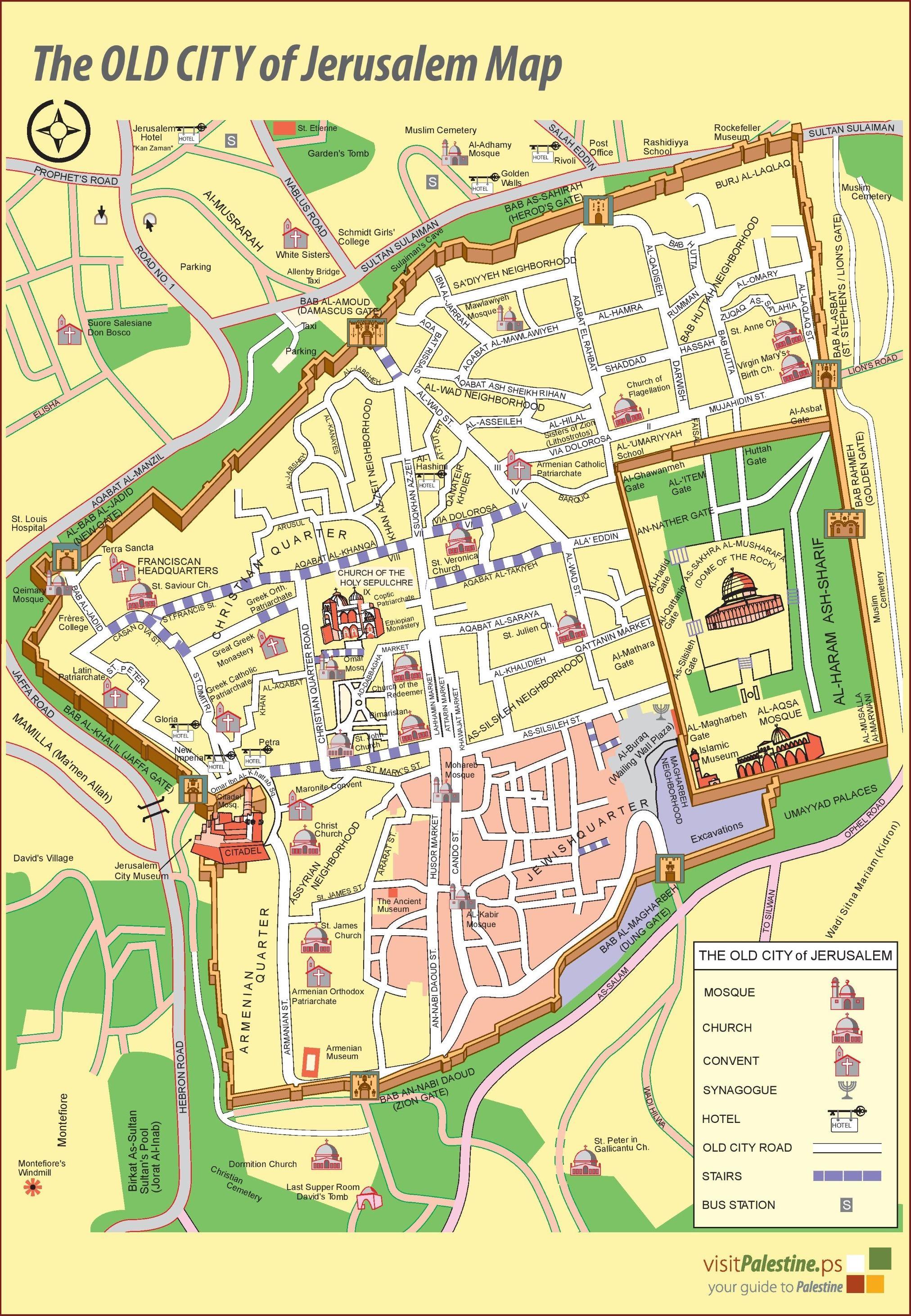 jerusalemoldcitymapjpg 20242924 Palestine Jerusalem