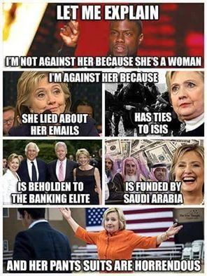 Preview, Review, Analyze her statements on youtube during the Commander-in-Chief talk she is Hill liar yous. She can't hide why she doesn't love America. Her style and clothing never beholds it if you ask me!!!What's up with that? She fears her donors and elites won't send her money to fill her plane and coffins.