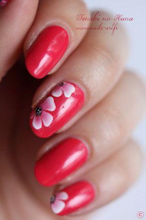 Flower Nail Design Lovely Nails Pinterest Flower Nails Flower
