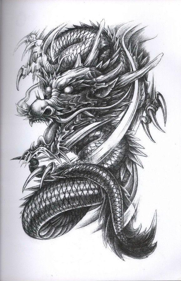dragon tattoo diseno dragon tattoos tattoo dragons. Black Bedroom Furniture Sets. Home Design Ideas
