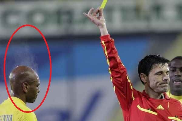 Photo of Some people get mad over a yellow card , but this guy …..