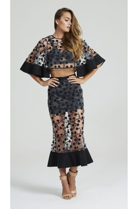 #$228.00 PRETTY ON THE INSIDE TOP & A LITTLE SOUL SKIRT BLACK