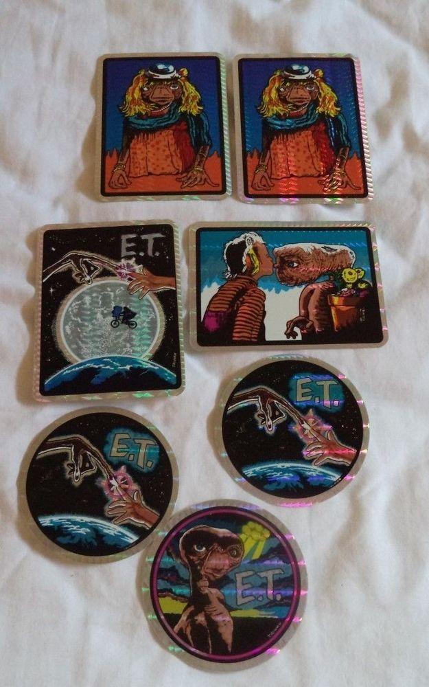 Vintage 80's E.T. Prism Sticker Vending Machine Lot of 7 | Virtual ...