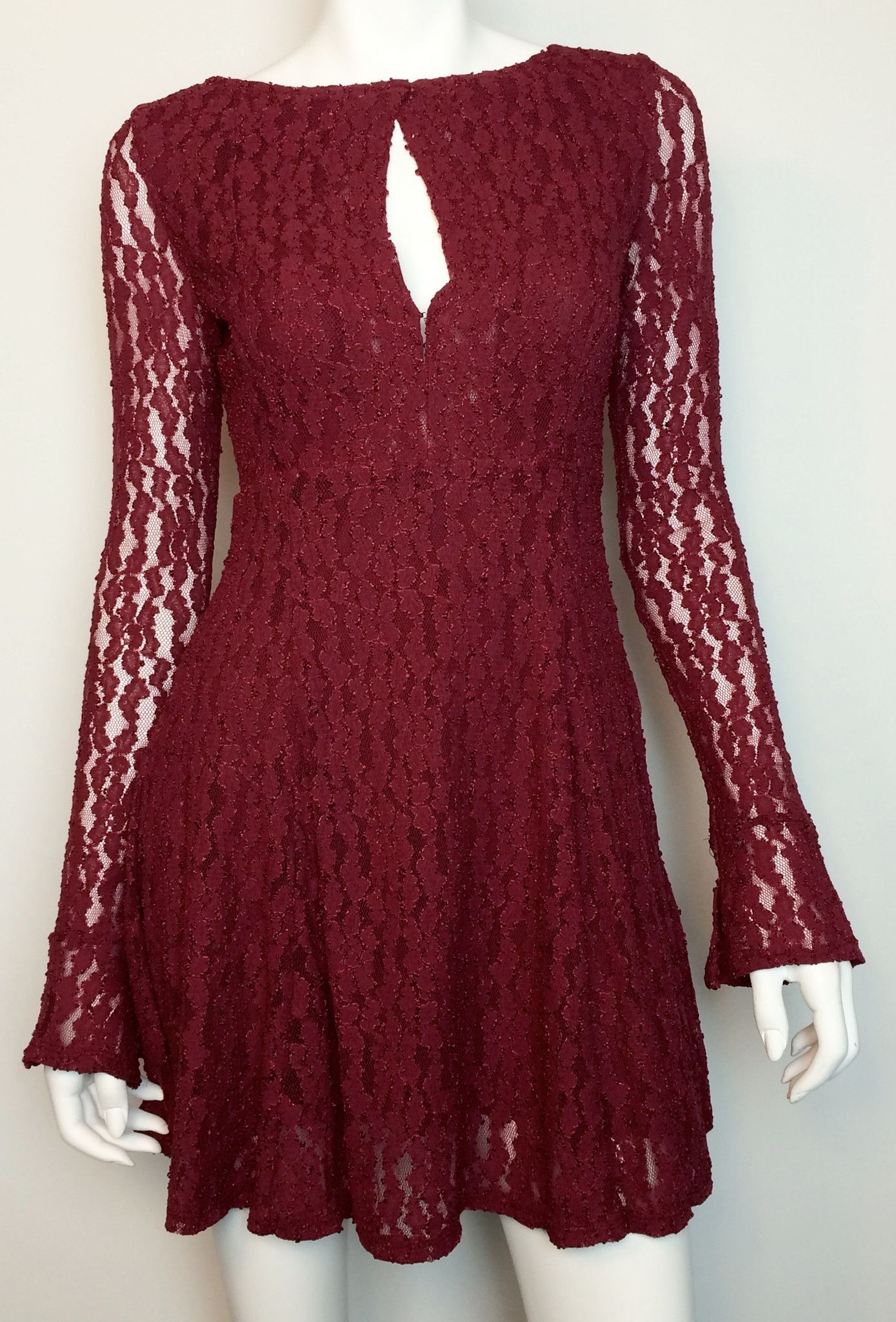 9bec8e1ba26 Free People Teen Witch Plumeria Stretch Lace Fit Flare Keyhole Dress M.  Find this Pin and more on Southern Sunday ...