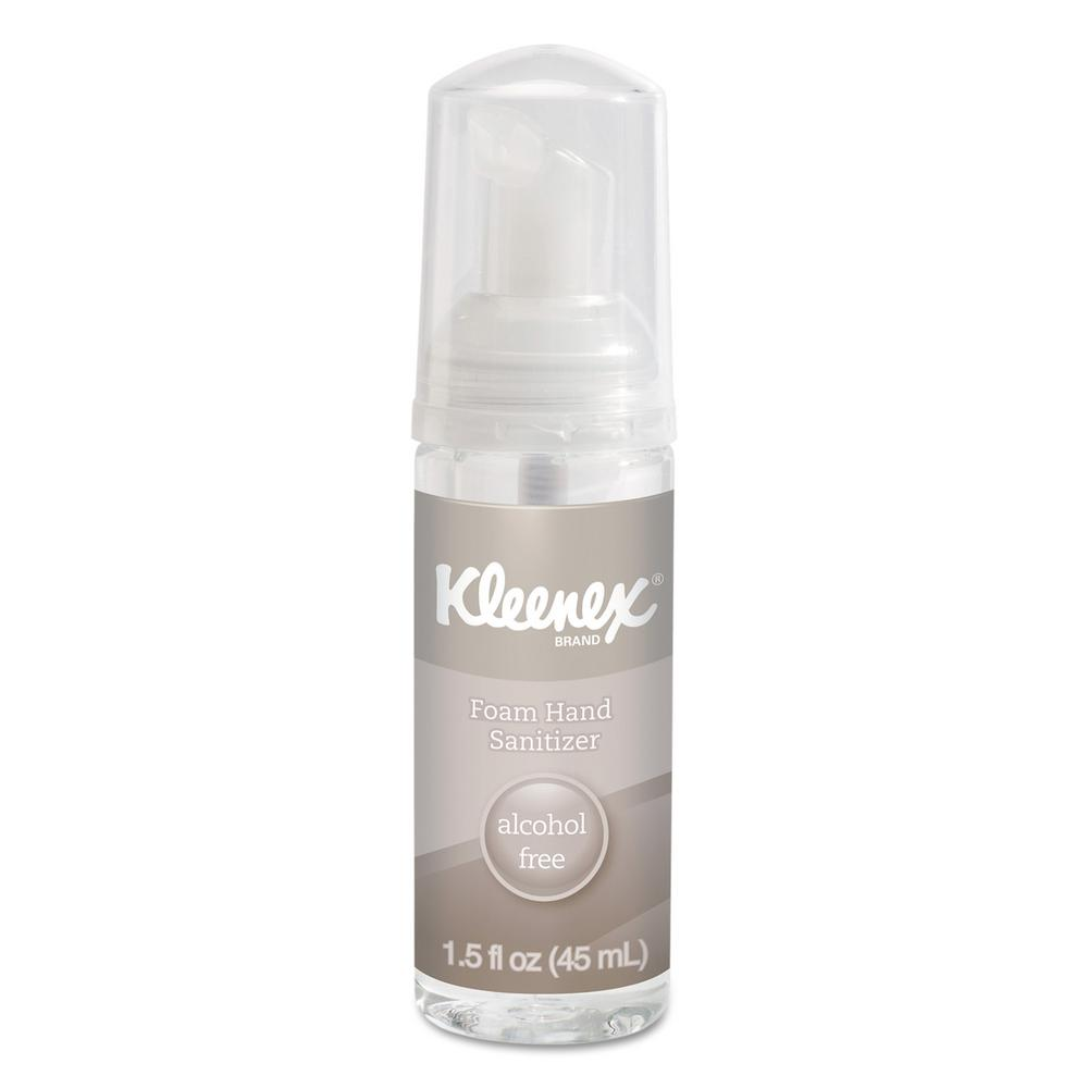 Kleenex 1 5 Oz Alcohol Free Foam Hand Sanitizer 24 Per Carton