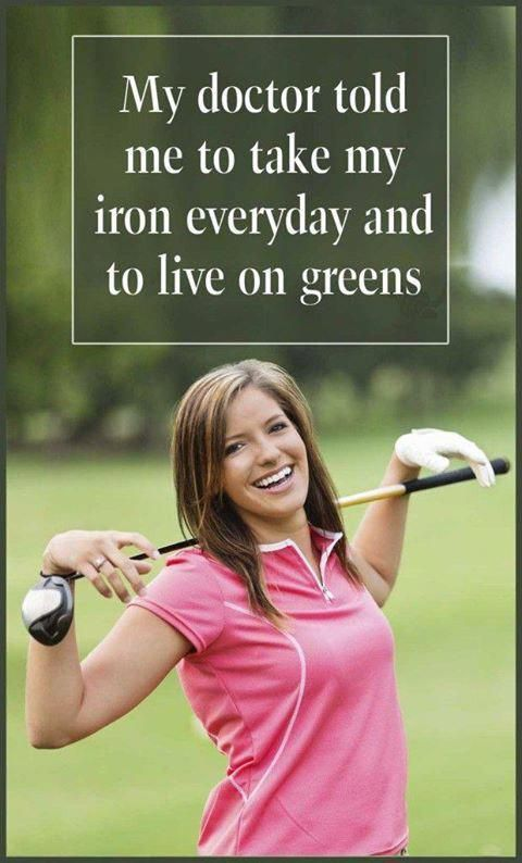 Don't have to tell me twice!   Rock Bottom Golf #RockBottomGolf #golffashion #golfhumor