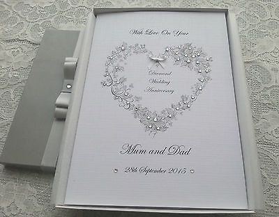 Handmade Personalised Birthday Card Engagement Wedding Anniversary Mother's Card