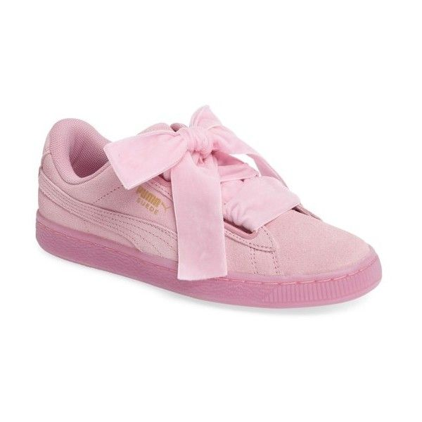 666e77022e Women's Puma Suede - Heart Sneaker ($80) ❤ liked on Polyvore featuring shoes,  sneakers, light pink, puma sneakers, heart sneakers, puma trainers, suede  ...