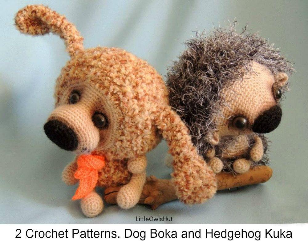 S7 Dog and Hedgehog  Amigurumi Crochet Patterns