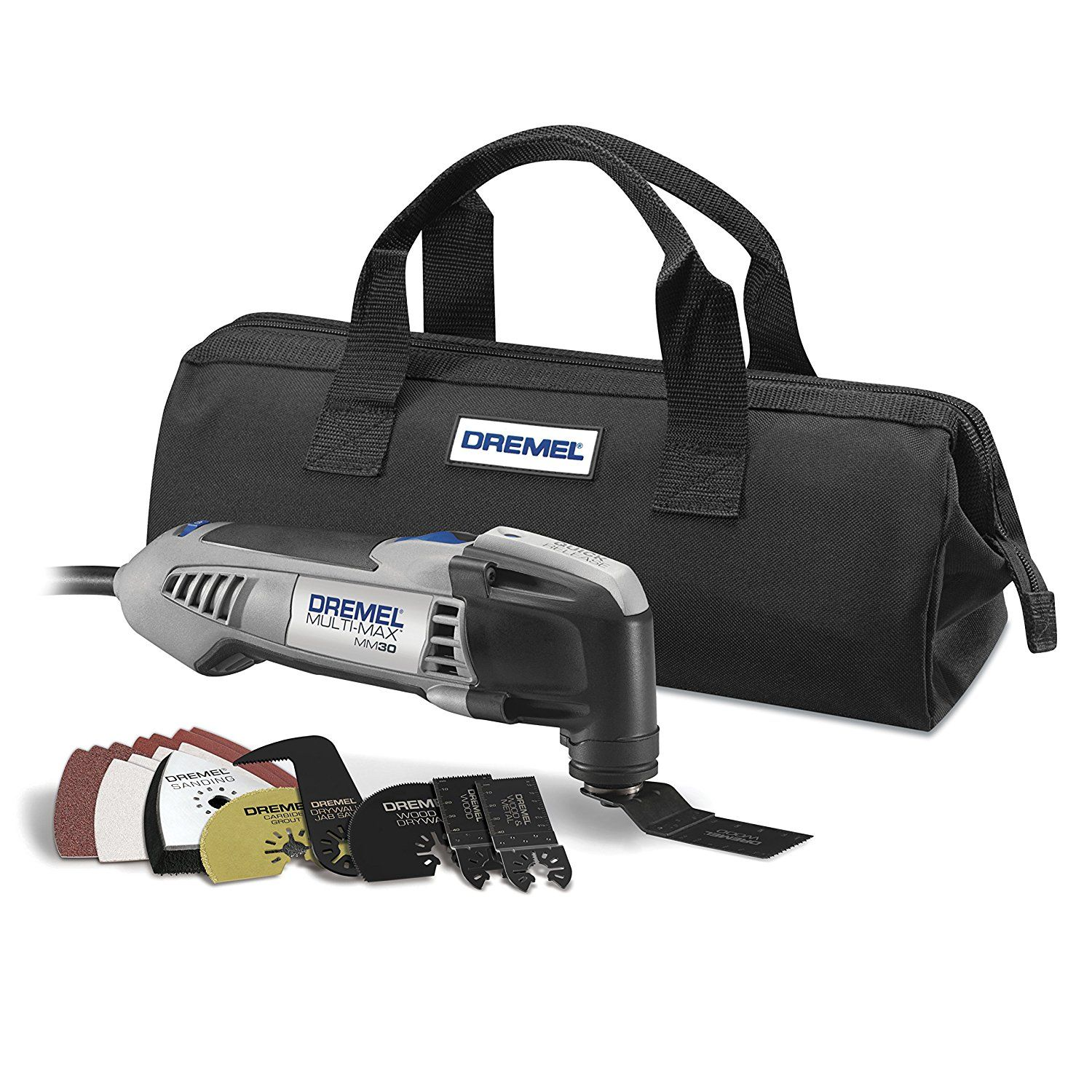Dremel Mm30 04 Multi Max 3 3 Amp Oscillating Tool Kit With Integrated Quick Release Wrench And 11 Accessories Amazon Com Dremel Oscillating Tool Portable Band Saw