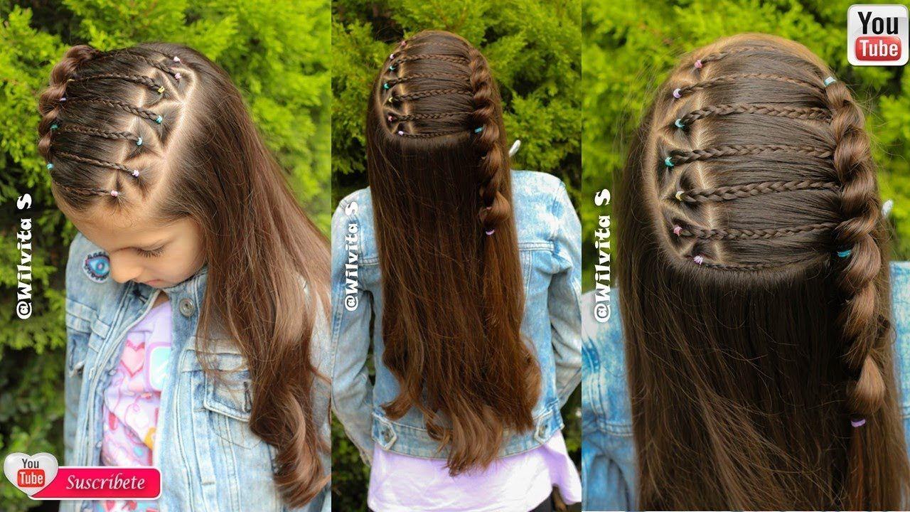 Peinado Con Ligas Para Niñas Ideal Para La Escuela Peinados Fáciles Peinado Con Ligas Peinados Con Ligas Para Niñas Peinados Para Niñas