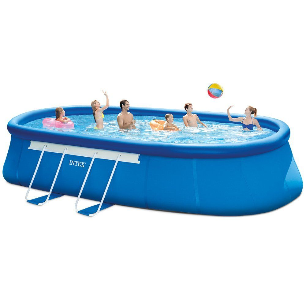 350 Intex 20ft X 12ft X 48in Oval Frame Pool Set With Filter Pump Ladder Ground Cloth Pool Cover My Bjs Wholesale Club Best Above Ground Pool Easy Set