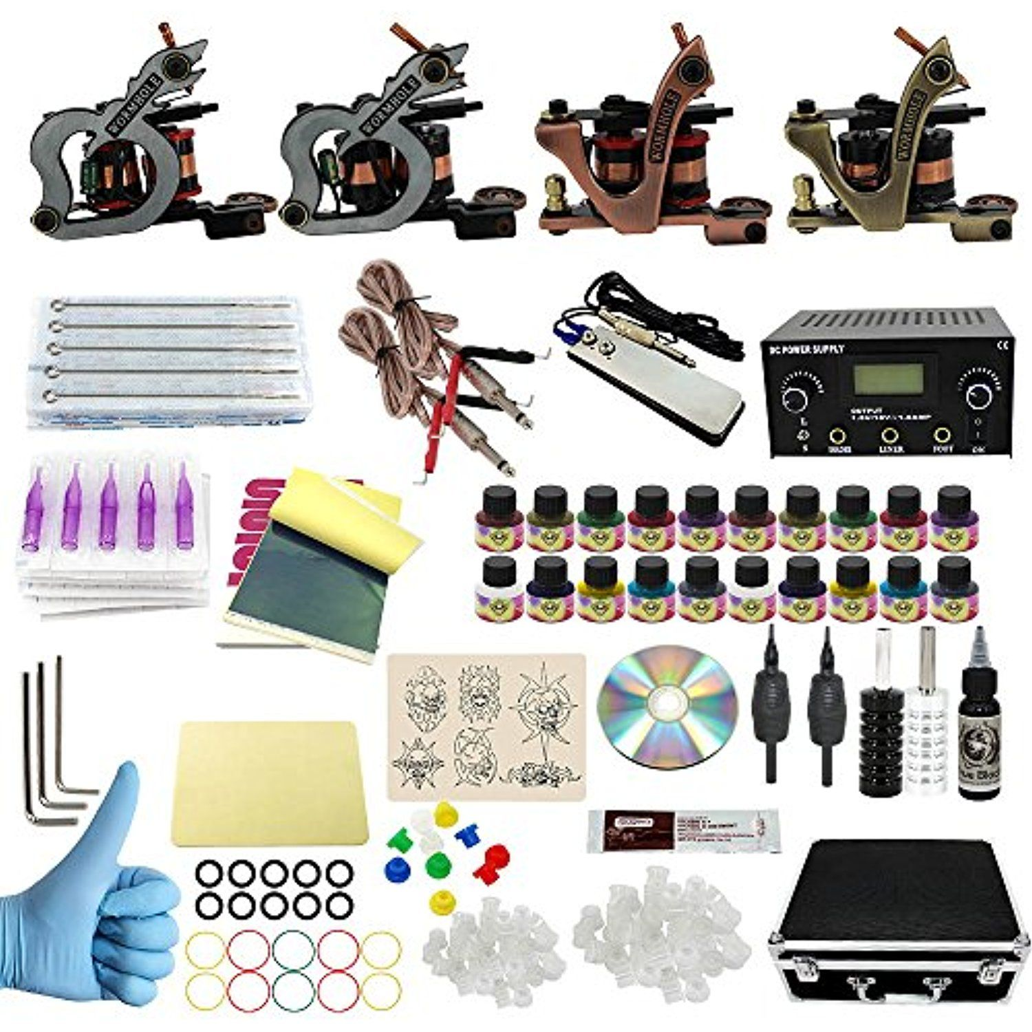 WORMHOLE TATTOO Complete Tattoo Kit with Case 4 Tattoo
