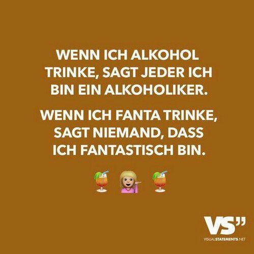 Alkohol-Alkoholiker Fanta-Fantastisch | Witzige sprüche ...