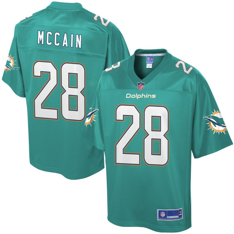 Youth Miami Dolphins Bobby McCain NFL Pro Line Team Color Jersey ... f3eb7321f