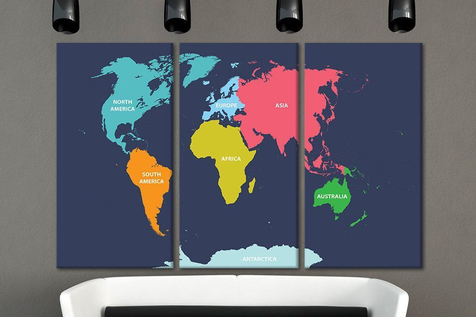 Wood wall art travel world map large canvas 3 panel world map large wood wall art travel world map large canvas 3 panel world map large world map on wood wooden map wooden world map wall art 5 panel wall art gumiabroncs Gallery