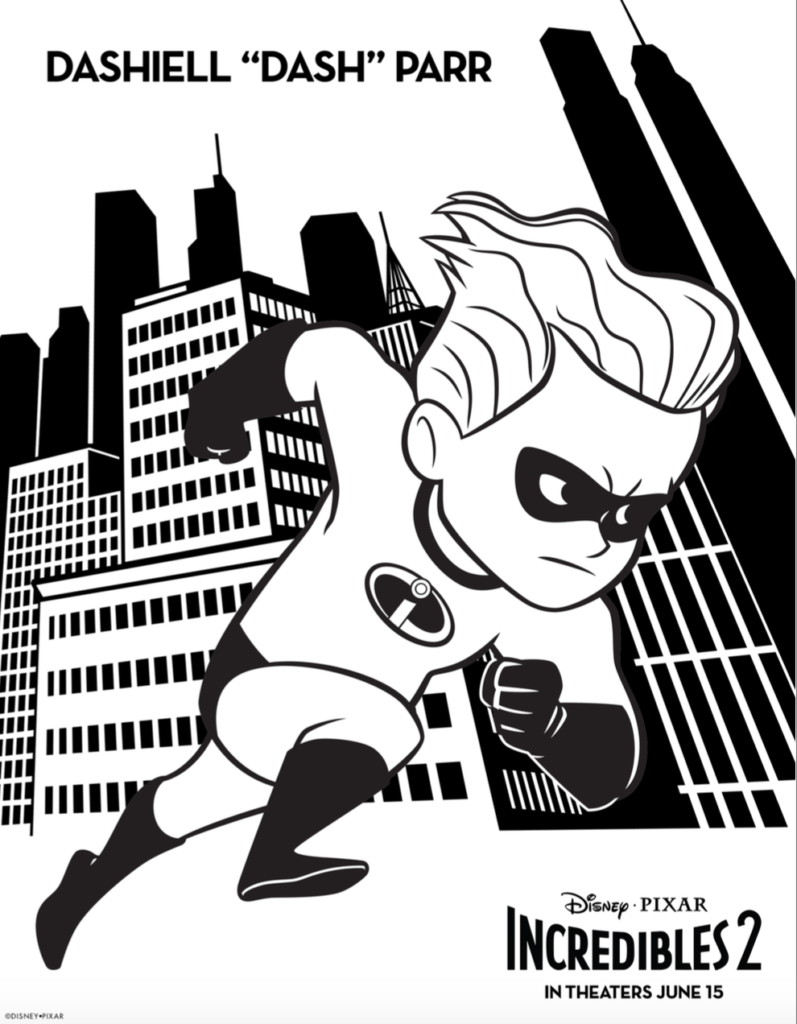 Free Incredibles 2 Coloring Pages And Activity Sheets Simply Today Life Free Printable Coloring Sheets Coloring Books Disney Coloring Pages