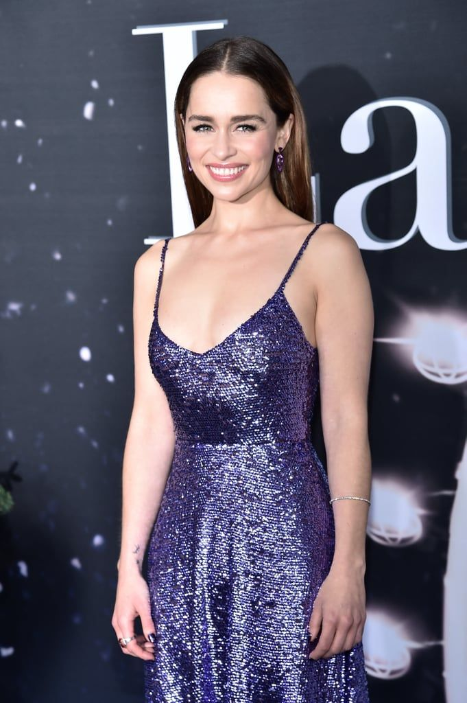 Emilia Clarke's Dress Looks Like a Sparkly Purple Ornament