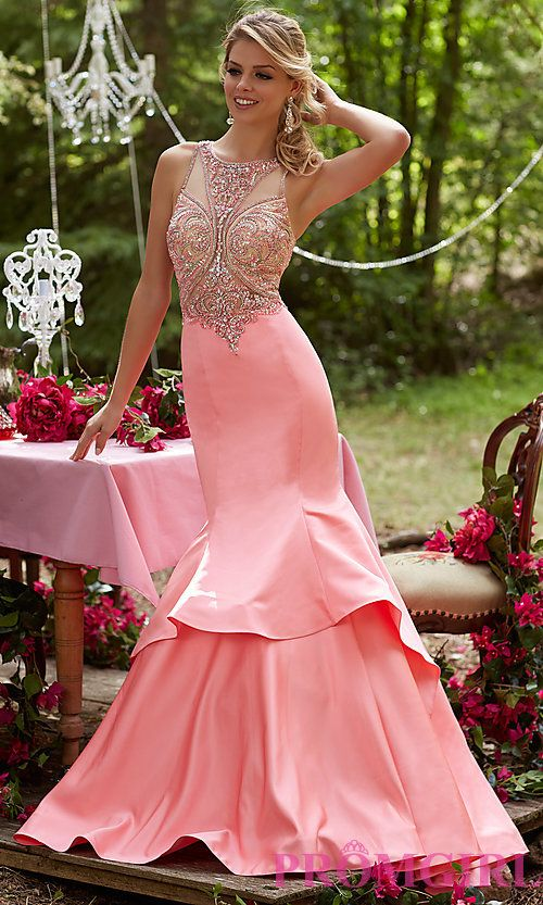 High Neck Sheer Mermaid Style Prom Dress   Mermaids, Shops and ...