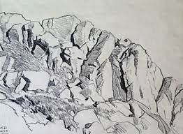 Image result for rock pencil sketch