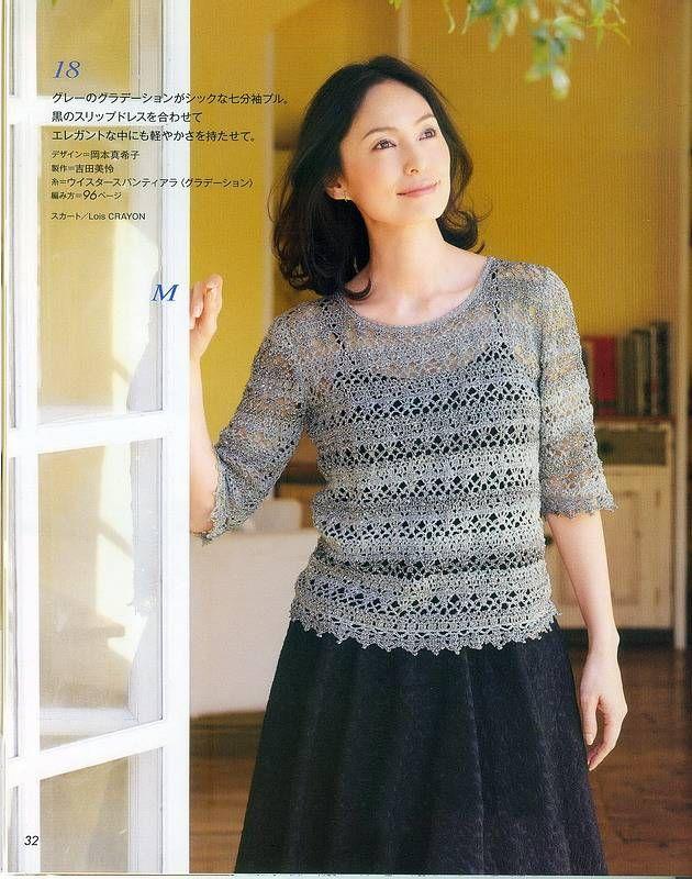 модели и схемы из японских журналов узоры вязание крючком