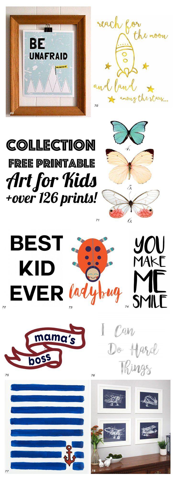 126 Free Nursery Art Printables: ULTIMATE GUIDE to NURSERY ART