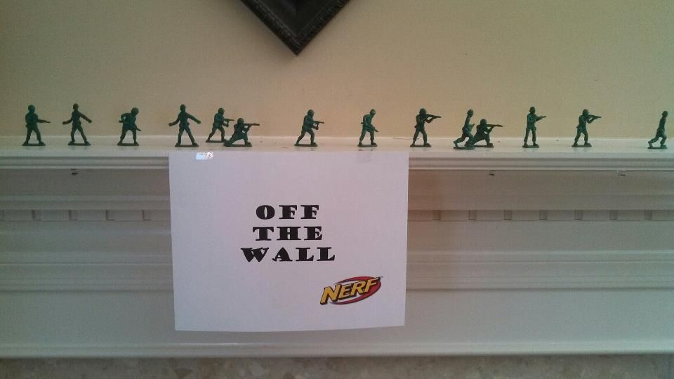 Nerf Gun Party Ideas- Army men used for sharp shooting...so easy and cheap!  | birthday plans | Pinterest | Army men, Army and Guns