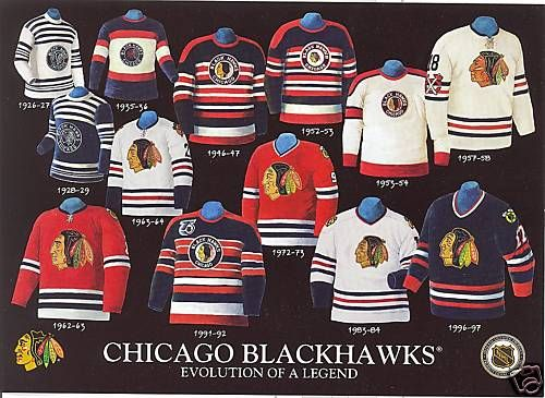 d4e01b5c785 chicago blackhawks jersey history - Google Search